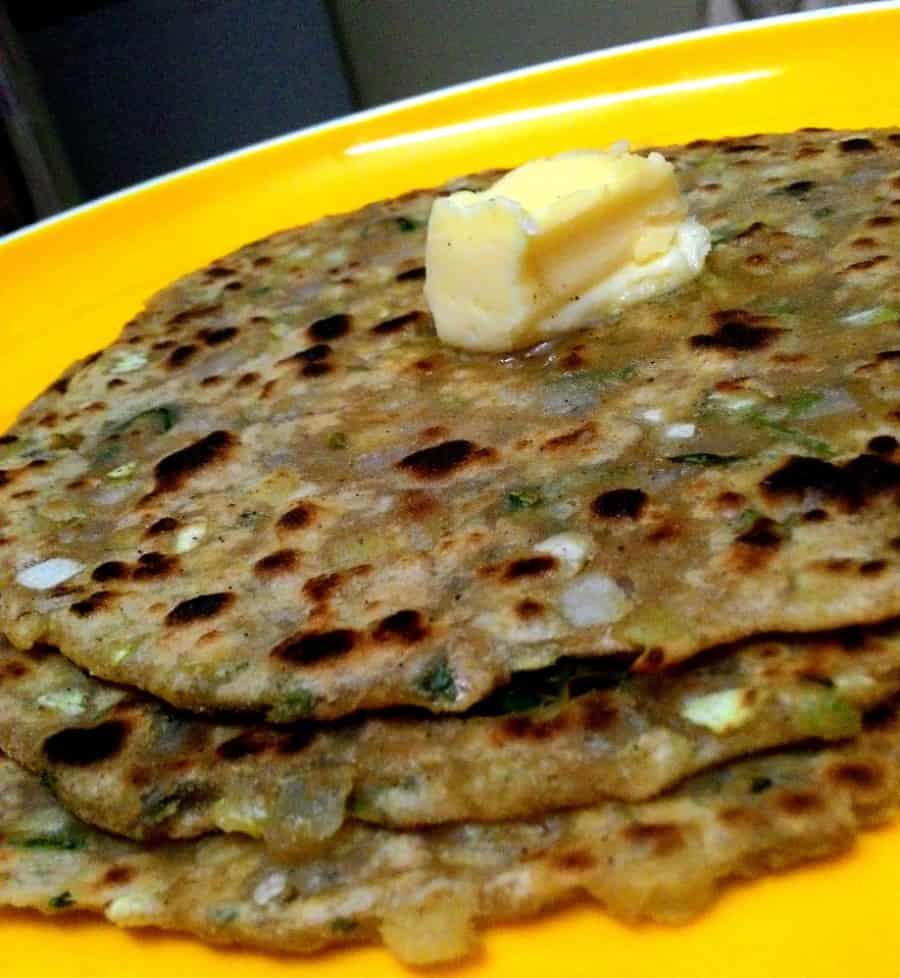 easy cabbage paratha