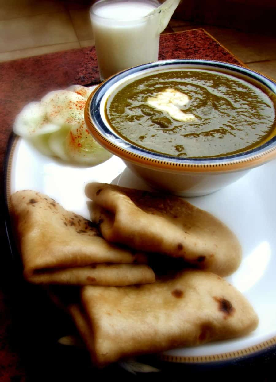 creamy palak curry