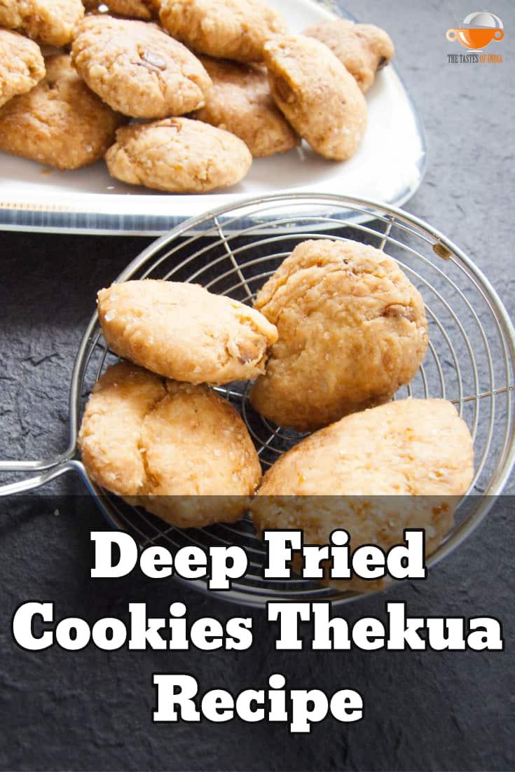 deep fried cookies thekua recipe