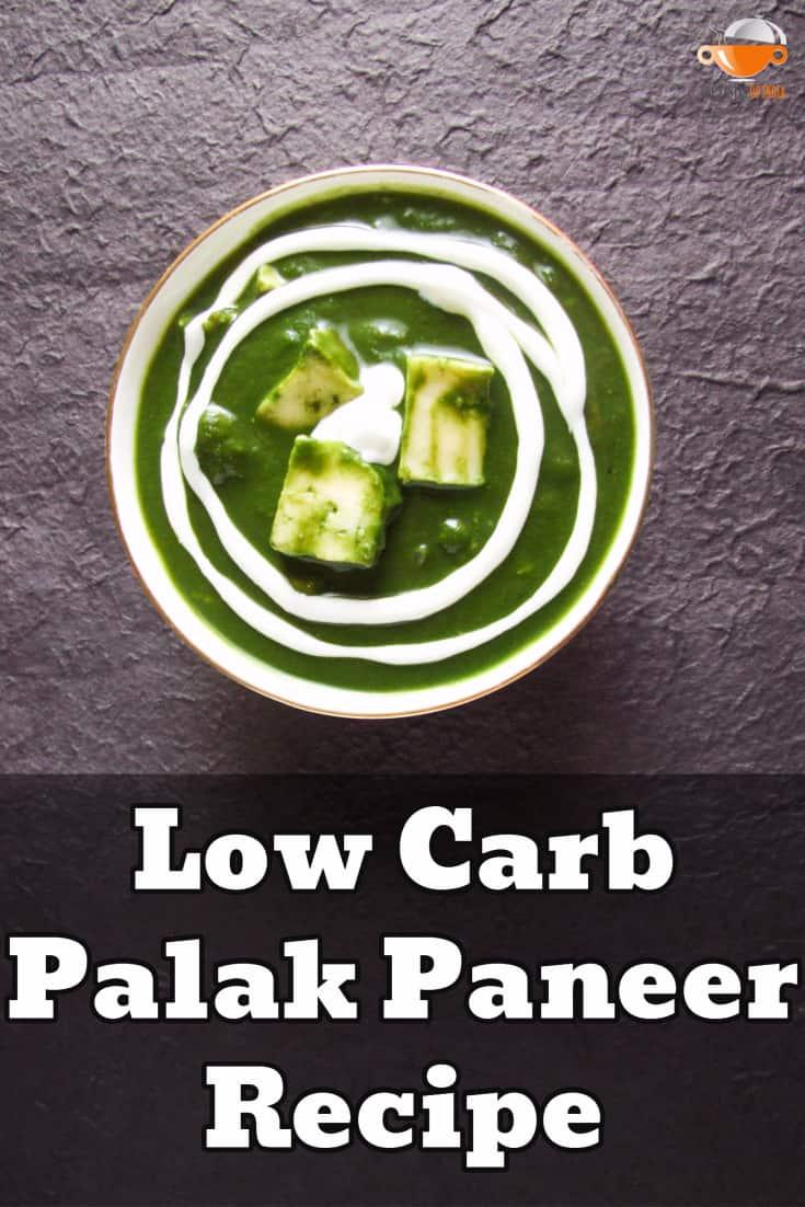 low carb palak paneer recipe