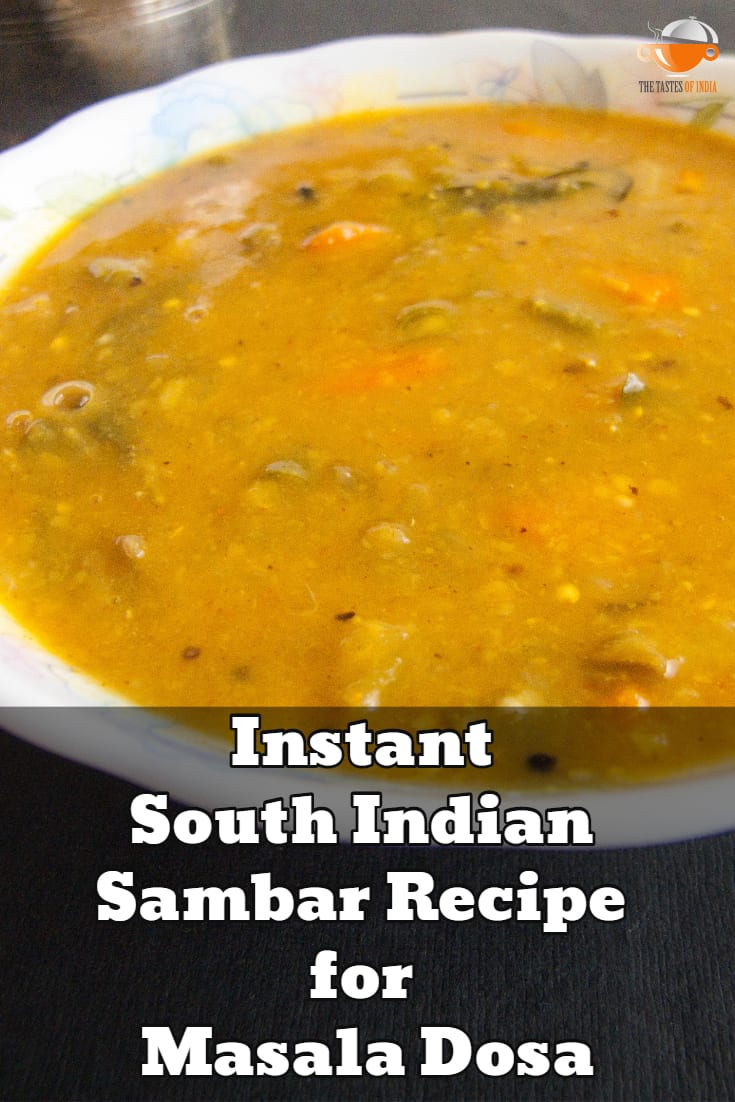 Instant South Indian Sambar Recipe