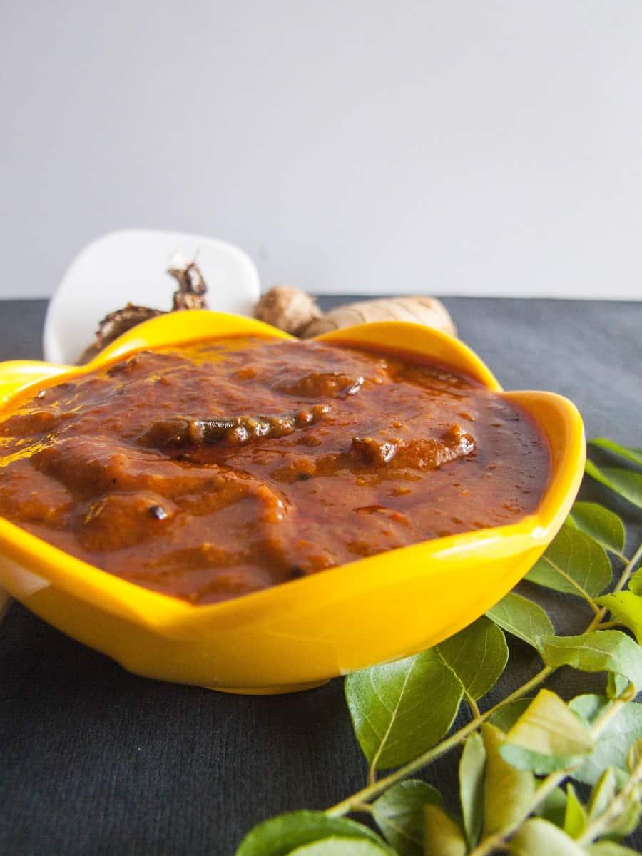 Inji Theeyal Recipe