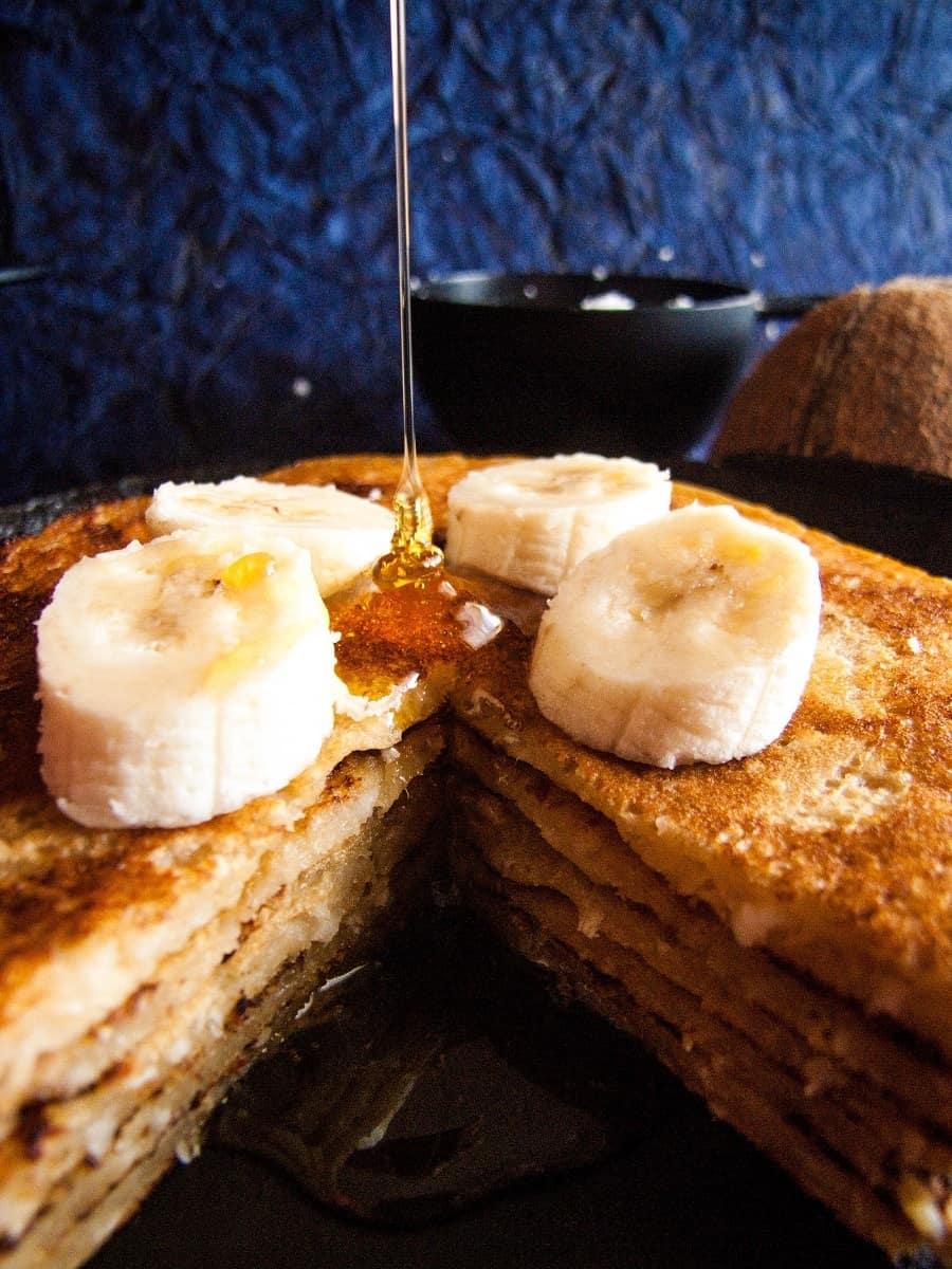 Eggless Banana Pancake Recipe