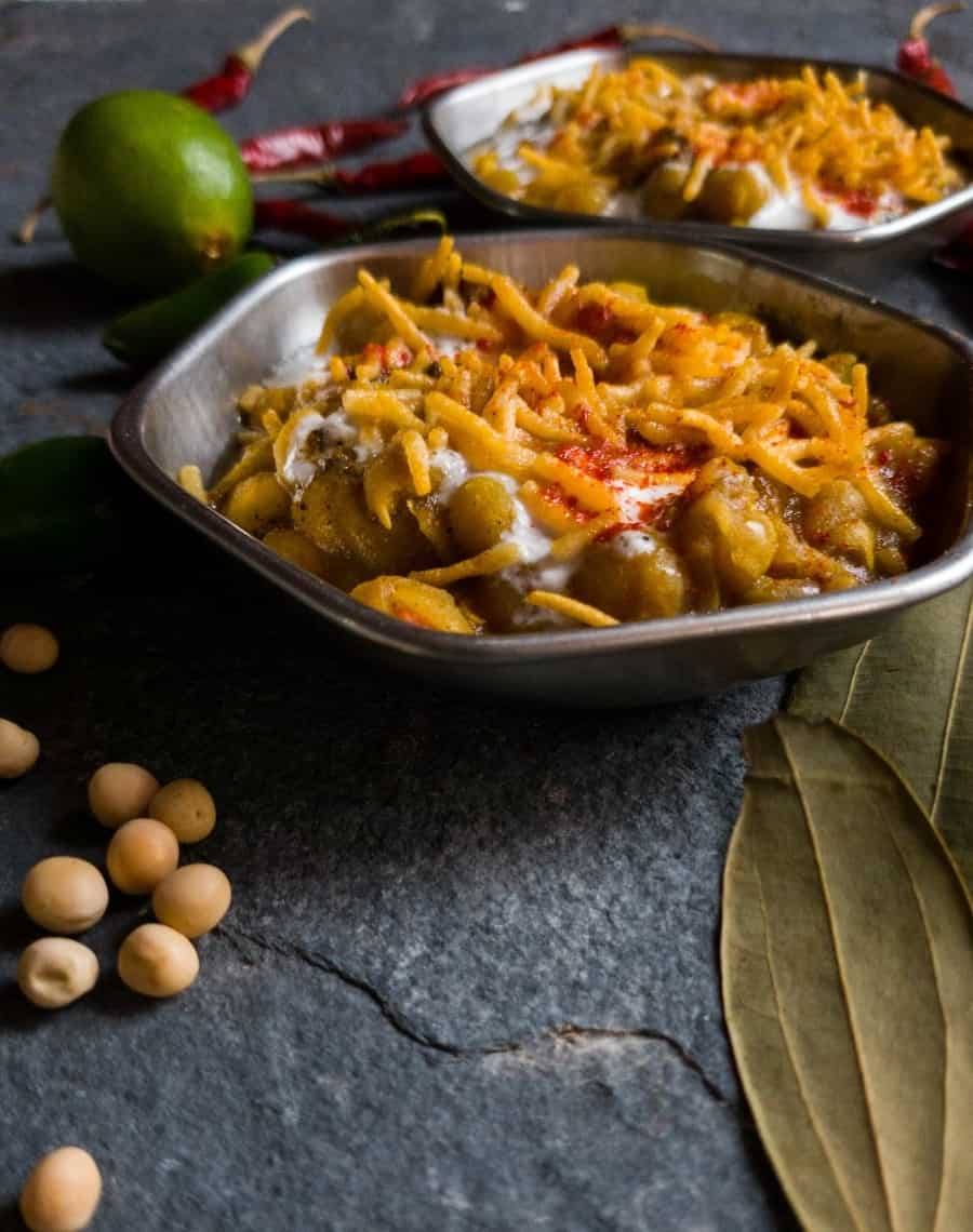 white matar chaat recipe
