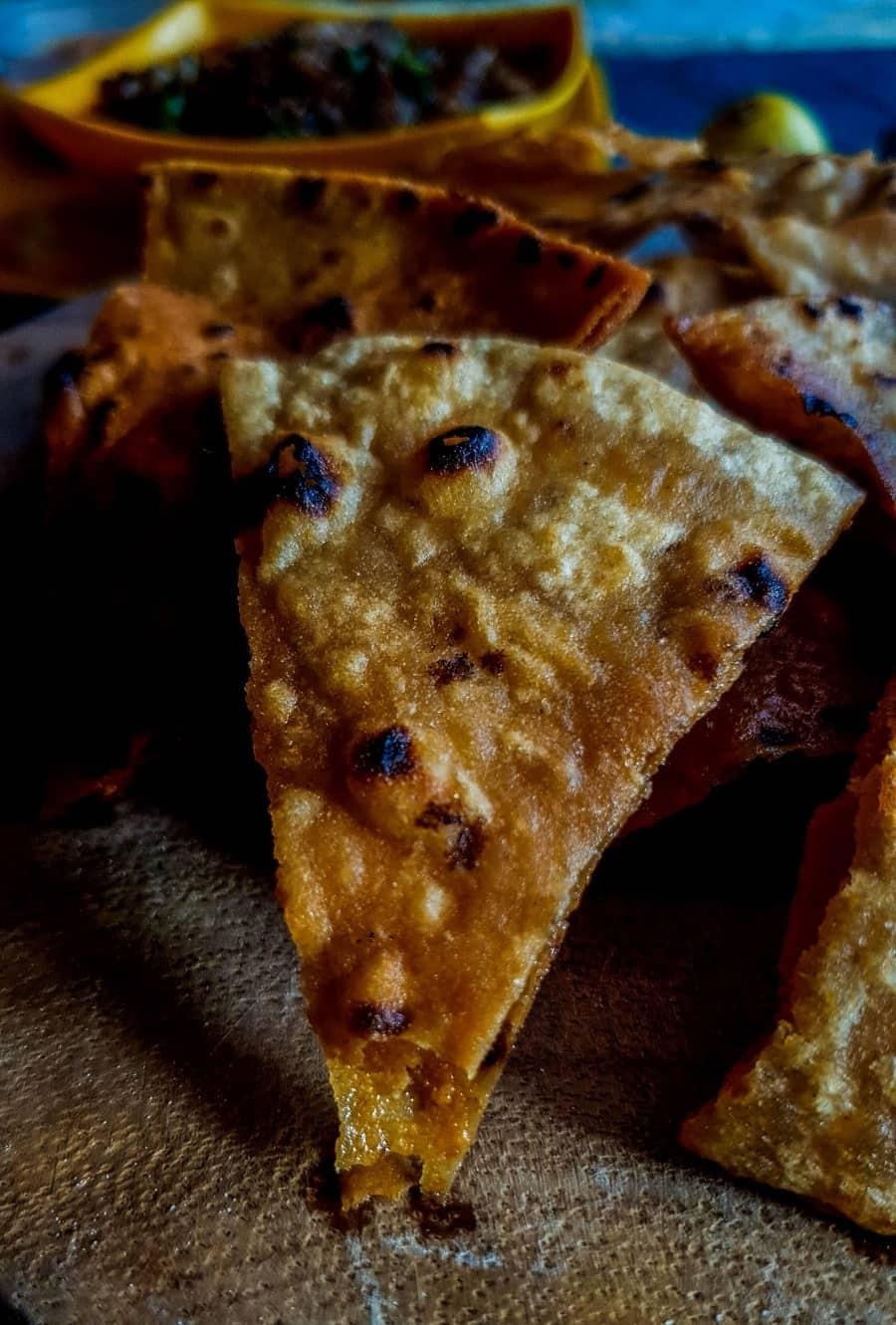 roti nachos recipe