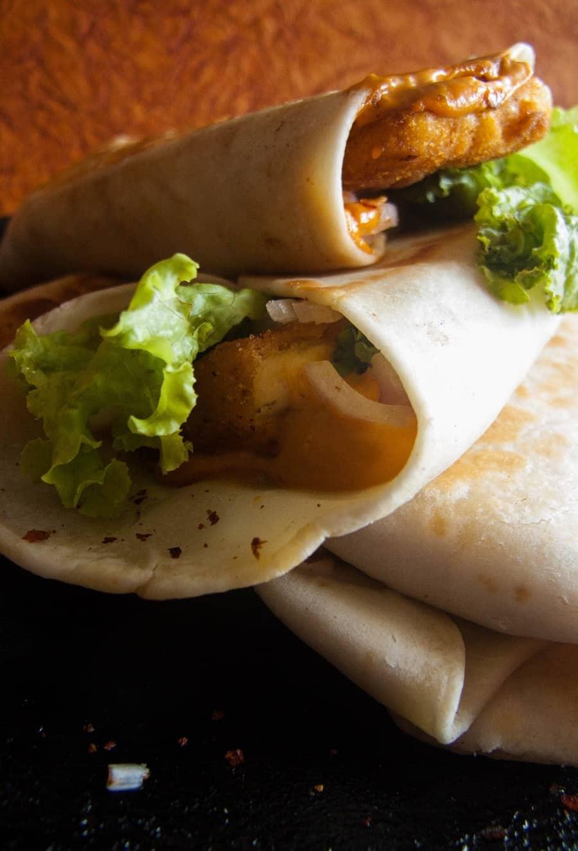 spicy paneer wrap recipe