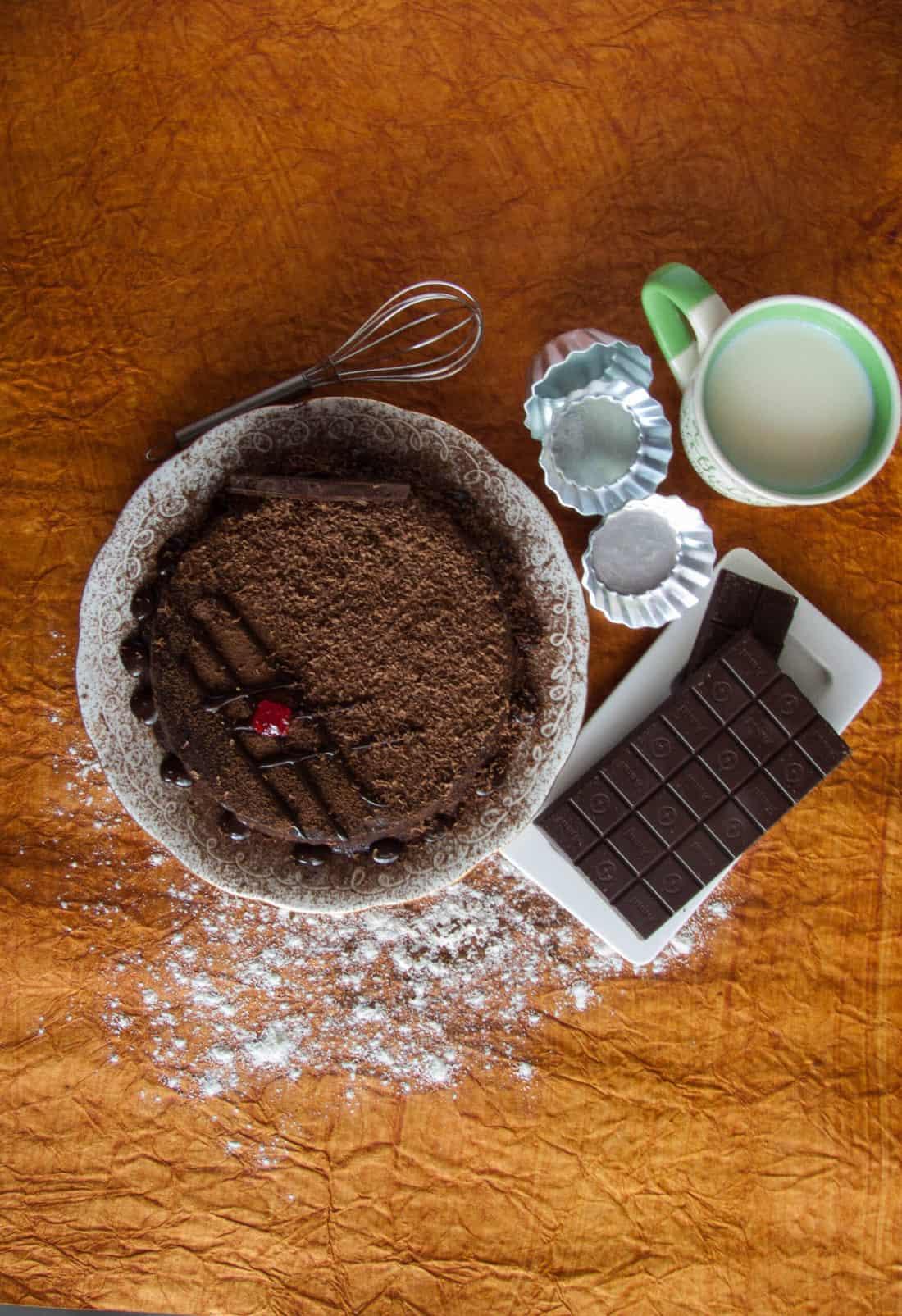 Eggless Chocolate Truffle Cake Recipe