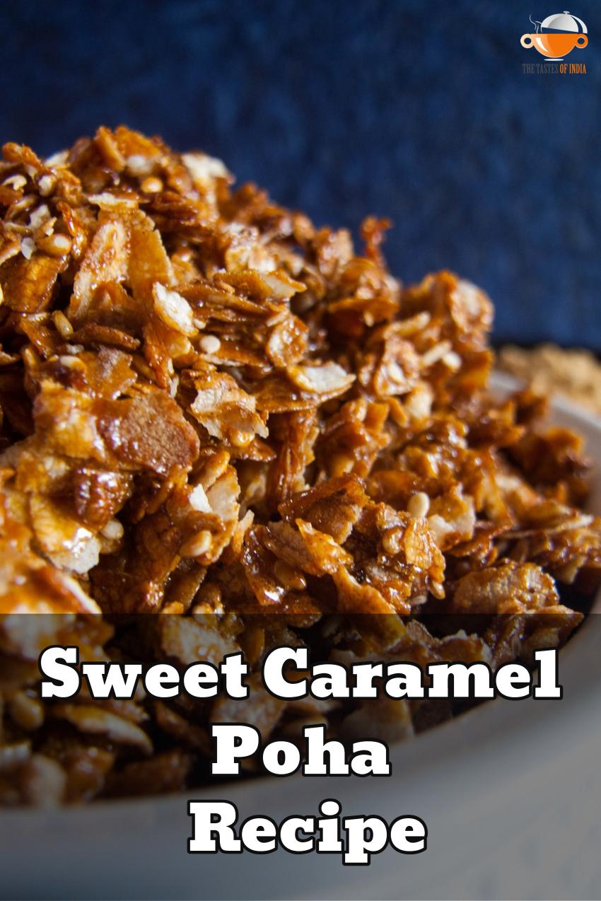 Caramel Poha recipe